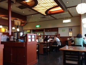 Inside the restaurant TENTEI