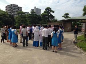 Students enjoyed Mihama Park.