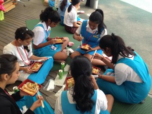 The students enjoyed a Halal-friendly lunch