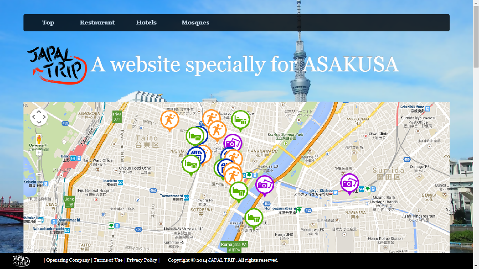 Tourist map Asakusa for Muslim was launched Halal Media Japan