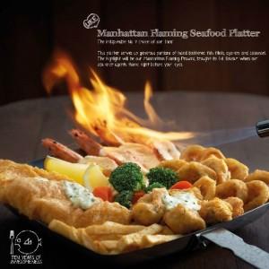Manhattan Flaming Seafood Platter