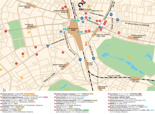 Shinjuku MAP for Muslim is finished Halal Media Japan
