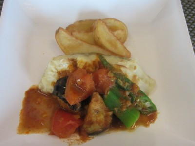 Cod curry sauce stew