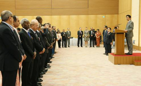 Japanese Prime Minister Abe hosted an Iftar party