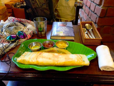 They have a few types of dosa including the plain and onions