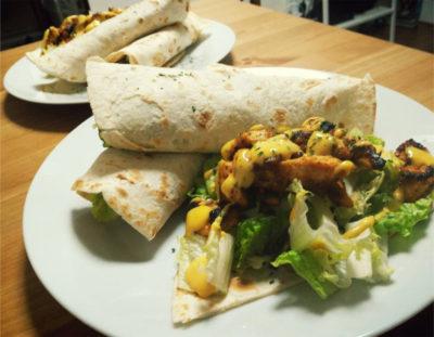 Easy Kebab-ish Halal Chicken Wrap