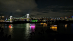写真:お台場の夜景とレインボーブリッジ