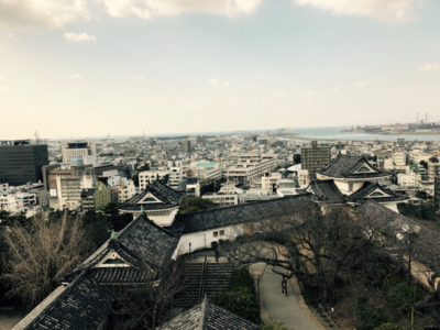 view from wakayama castle