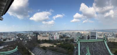 panorama from wakayama castle