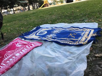 park and prayer mats