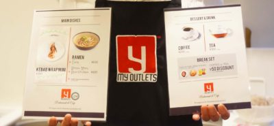 Menu of My Outlets Cafe