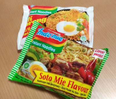 Indomie I found at Kaldi. It is available in soto flavor and mi goreng