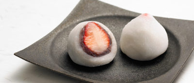 Credit to Akebono's homepage. Limited sweets of Akebono Ginza, Ichigo daifuku (strawberry daifuku)