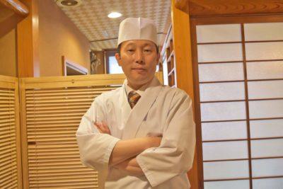 Sushiken Asakusa's sushi master, Mr. Ito