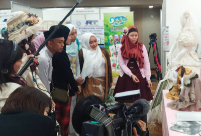 Generation M Design Award Finalists was visiting Lolita booth and checking on Lolita Hijab