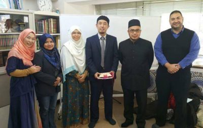 Malaysia's participants with Shizuoka Muslim Association