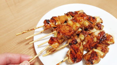 Halal yakitori with soy sauce