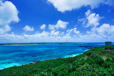 Okinawa as a famous resort in Japan
