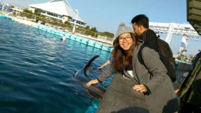 Touching dolphin