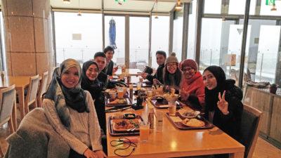 Fam trip group enjoy halal dishes