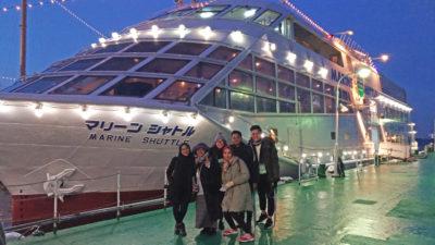 Fam trip members enjoy sea bass