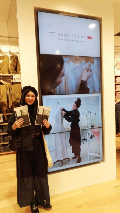 Display of Hana Tajima's collection in Uniqlo Ginza Store 4F