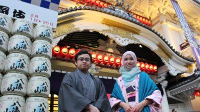歌舞伎座でのワンショット